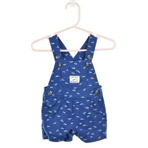 Carter's Blue Printed Cotton Overalls